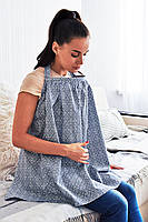 Эрго-передник для кормления грудью (синий узор)