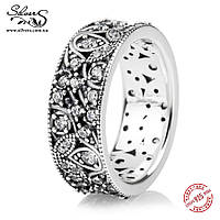 """Серебряное кольцо Пандора (Pandora) """"Переливающиеся листья"""""""