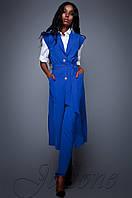 Брючный костюм с длинным кардиганом Дени электрик Jadone  42-48  размеры