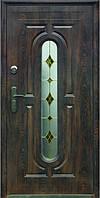 Дверь входная металлическая улица ТР-С 240  + одно стекло 960Х2050х70