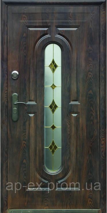 Дверь входная металлическая улица ТР-С 240  + одно стекло 960Х2050х70 - АПЕКС-интернет-магазин в Днепре