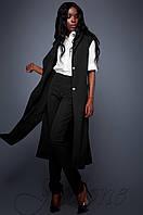 Брючный черный костюм с длинным кардиганом Дени Jadone  42-48  размеры