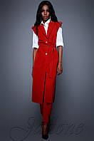 Брючный красный костюм с длинным кардиганом Дени Jadone  42-48  размеры