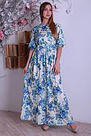 Красивое легкое летнее длинное женское платье