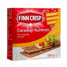 Сухарики ржаные с тмином FINN CRISP, 200г