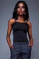 Элегантный черный топ Лози Jadone Fashion 42-48 размеры
