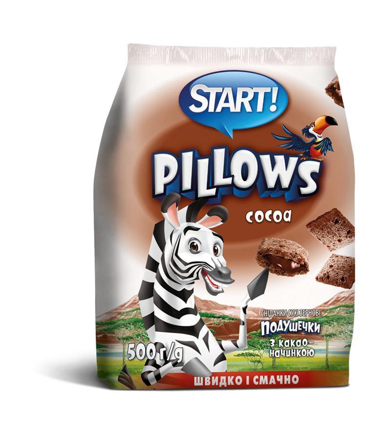 Подушечки с какао-начинкой START 500г