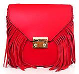 Жіноча маленька сумочка  . Італія 100% натуральна шкіра . Чорна, фото 5