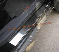 Накладки на пороги NataNiko Premium на Mitsubishi Outlander 2006-2012