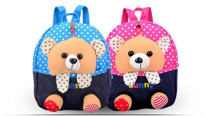 Сказочные детские рюкзаки с игрушками в кармане Медвежонок