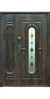 Дверь входная металлическая ТР-С 240  +  одно стекло нестандарт  2050x1200x70