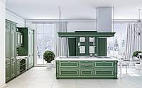 Кухня RODA СТРЕЗА: из МДФ, окрашенного с обеих сторон в матовый цвет с патиной