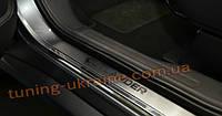 Накладки на пороги NataNiko Premium на Mitsubishi Outlander 2012-2014