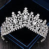Высокая корона, диадема, тиара под серебро,  высота 8 см.