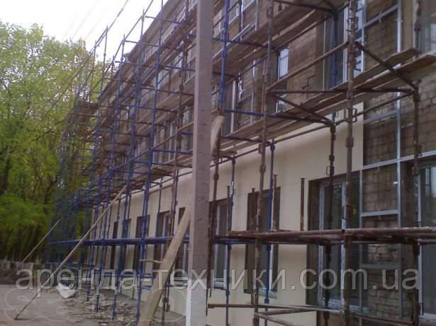 Штыревые ригельные строительные леса для кирпичной кладки