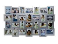 "Фоторамка ""Collage 28"", серебристая"