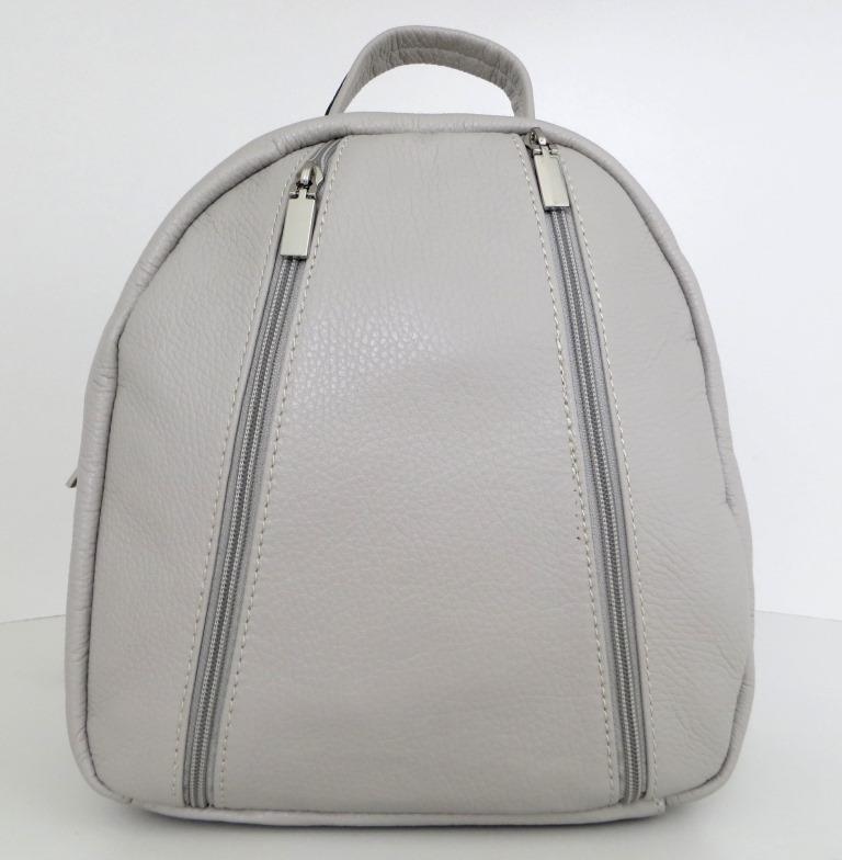 Рюкзак молодіжний, жіночий. 100% натуральна шкіра! Сірий