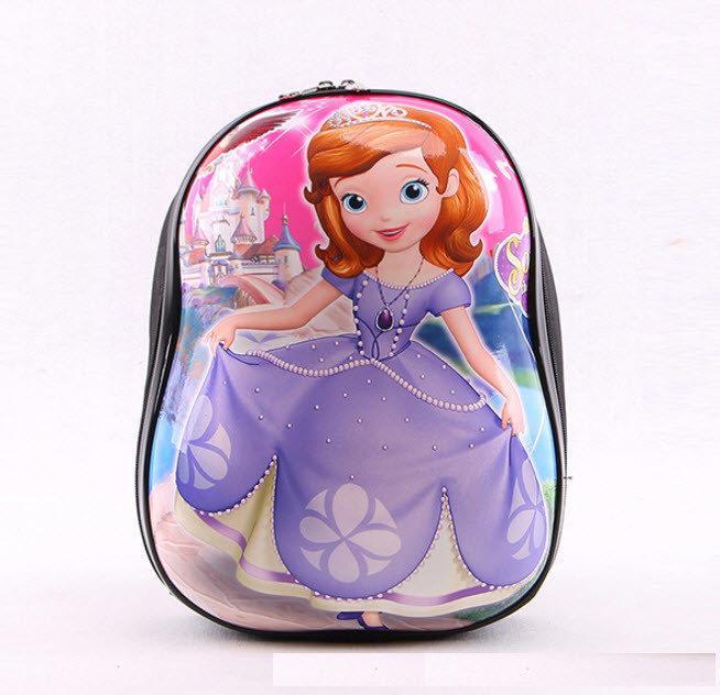 Твердые детские рюкзаки с принтами 3D Принцесса София