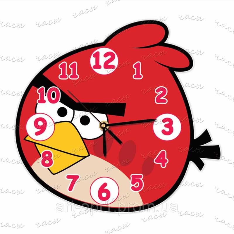 """Часы детские """"Злые птички"""""""