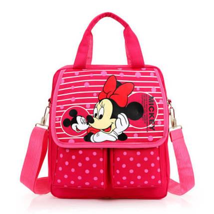 Удобные рюкзаки для учебы с принтами Минни Маус, фото 2