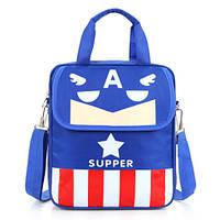 Удобные рюкзаки для учебы с принтами Капитан Америка