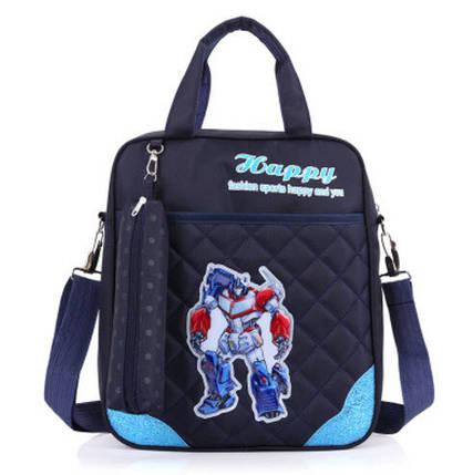 Зручні рюкзаки для навчання з принтами Трансформер, фото 2