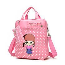 Удобные рюкзаки для учебы с принтами Девочки, фото 3