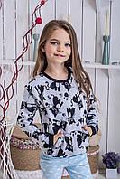 Детская кофта для девочки с начесом Котики