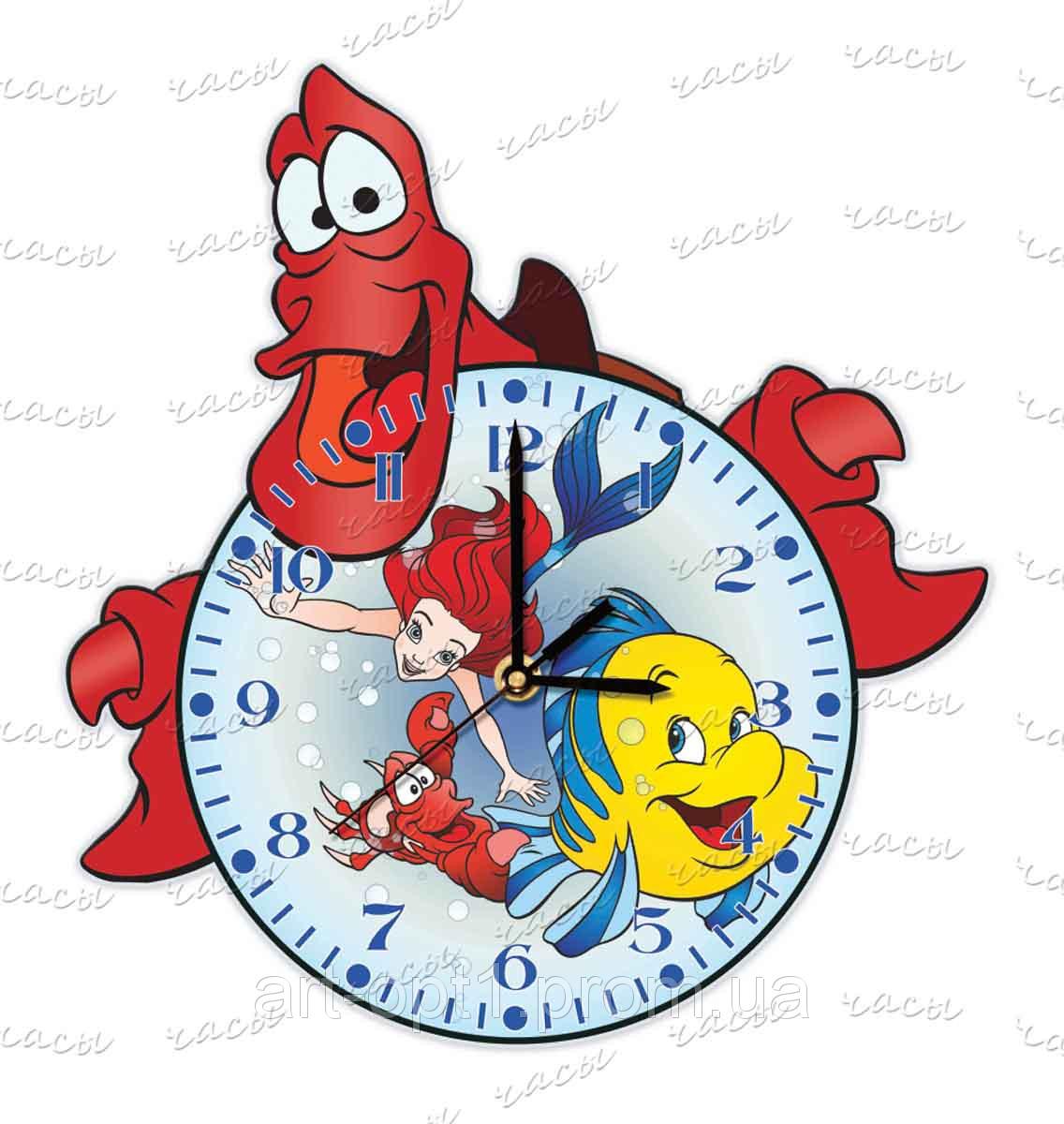 Часы детские настеные оргстекло Немо