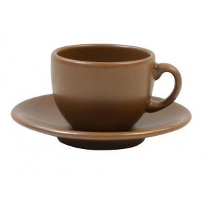 Чашка кофейная + блюдце 95 мл KeraMia Табако 24-237-048