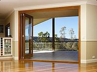 Пластиковые складные двери окна типа гармошка из профиля REHAU (рехау), ALUPLAST (алюпласт), Roto Patio
