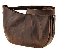 "Оригинальная женская кожаная сумка BlankNote ""Круассан"" BN-BAG-12-o орех"