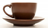 Чашка кофейная + блюдце 95 мл KeraMia Табако 24-237-048, фото 2