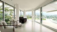 Металлопластиковые подъемно- наклонно- раздвижные теплые двери и окна для беседки, террасу, бассейна и для