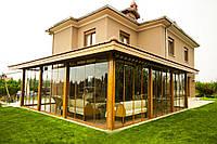 Слайдинговые раздвижные системы для беседки, терассы и веранды. Откатные окна и двери на терассу, веранду