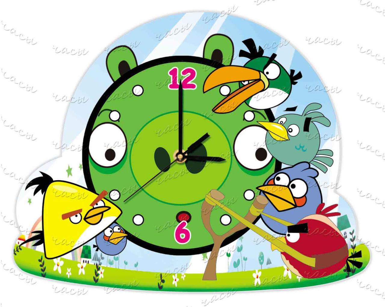 Часы детские оргстекло