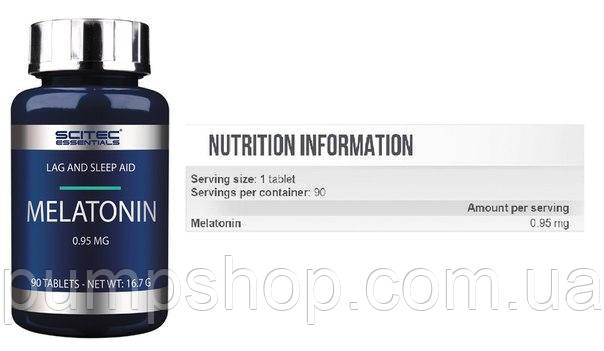 Мелатонин Scitec Nutrition Melatonin 90 таб., фото 2