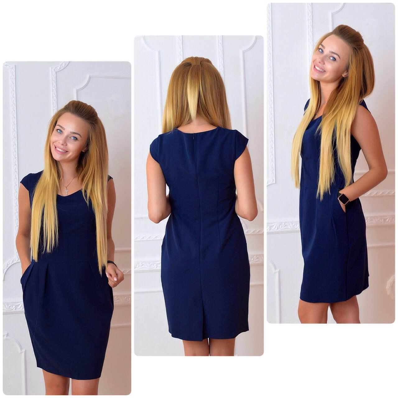 Платье модель 746, синий