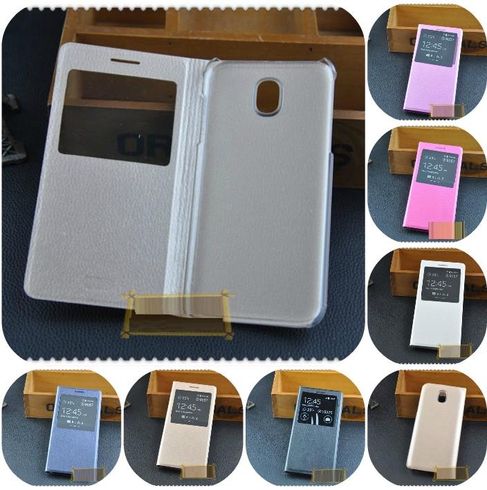 """SAMSUNG J7 (2017) J730F оригинальный кожаный чехол книжка иск. КОЖА тисненый принт на телефон """"SMART COVER"""""""
