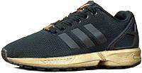 Женские кроссовки Adidas ZX Flux Black/Gold 36