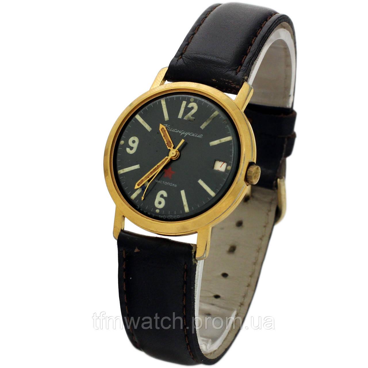 3831a099 Позолоченные Командирские часы Чистополь заказ МО СССР противоударные  пылезащитные