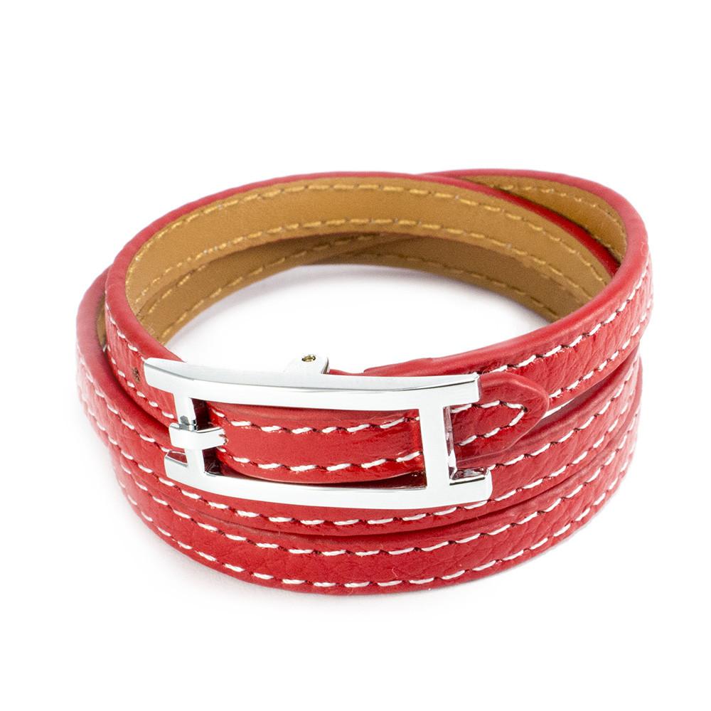 Кожаный браслет Ремешок красный Арт. BS013LR