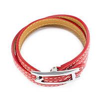 Кожаный браслет Ремешок красный Арт. BS013LR, фото 2