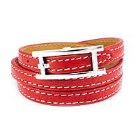 Кожаный браслет Ремешок красный Арт. BS013LR, фото 3