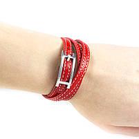 Кожаный браслет Ремешок красный Арт. BS013LR, фото 4