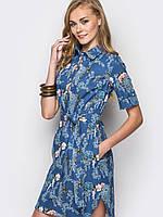 Женское модное джинсовое платье р.44,46,48,50