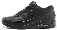 Мужские кроссовки Nike Air Max 90 VT Tweed (Найк Аир Макс) кожаные черные