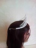 Высокая корона, диадема, тиара в серебре для конкурса, высота 8,5 см., фото 5