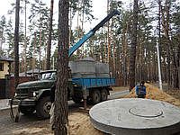 Монтаж септика из бетонных колец, фото 1