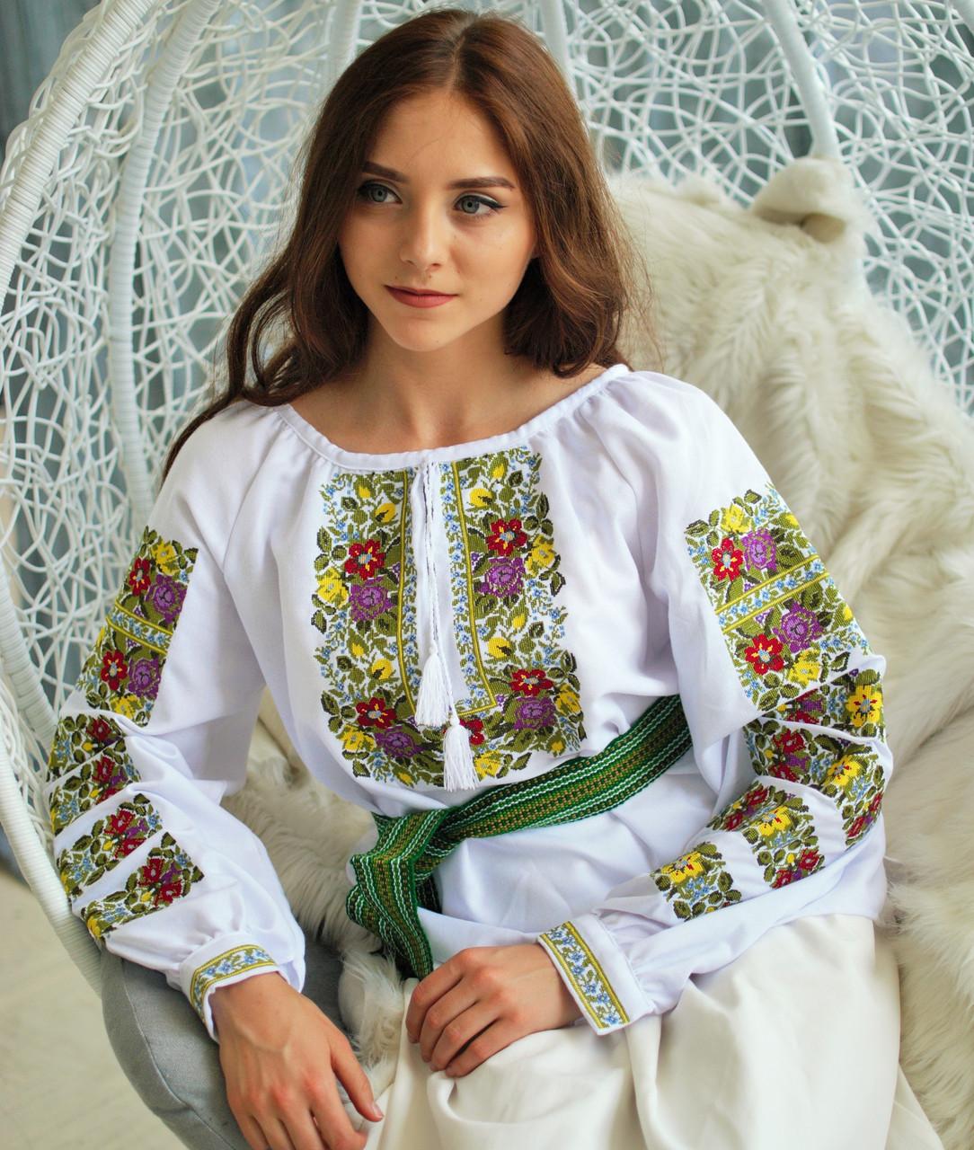 Вишиванка Львівські квіти (домоткане полотно) 6271099674801